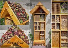 Insektenhotel Insektennisthilfen Nisthilfen inscet hotel nesting aid bug house begrüntes Dach Dachbegrünung green roofing roof greenery