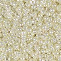 Miyuki 11/0 (2mm) Antique Ivory Pearl Ceylon glass seed beads, colour number 592. UK seller.