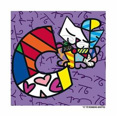 Letter C by Romero Britto