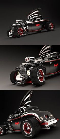 ♂ black car with touch of red Wicked Render of Medri's 50's Rockabilly Hot Rod Batmobile