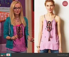 Maddie's pink embroidered top on Liv and Maddie.  Outfit Details: http://wornontv.net/47843/ #LivandMaddie