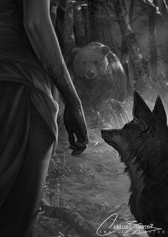 Six Gun Snow White - The Fox and The Bear by Charlie-Bowater.deviantart.com on @DeviantArt