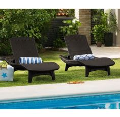 Patio Furniture Covers Waterproof Backyard Swimming Poolside Chaise Lounge Chair #Keter