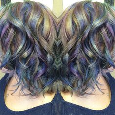opal iridescent hair. www.ursulagoff.com Stuff that Urs does. Mostly rainbow-izing exploits.