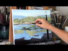 "Acrylic River and Trees Landscape Painting Demo ""Reflecting"" Part 1"