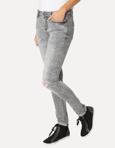 Skinny Fit 5-Pocket-Jeans Skinny Fit, Jeans, Pocket, Grey, Fitness, Fashion, Mindful Gray, Gymnastics, Moda