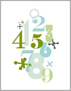 Number Wall Art Modern Mantle, Jay, Number, Wall Art, Words, Holiday, Design, Vacations