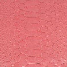 "Back-cut ""grapefruit gelato"" python leather by GLENI"
