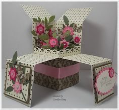 King's on Paddington: JAI 128 - Inspirational Photo - Flower Garden Pop-up Box Card - Isn't this absolutely amazing?