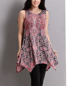 Look at this Pink Paisley Handkerchief Tunic - Plus on #zulily today!