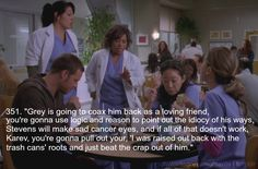 Greys Anatomy Bailey's take on talking George out of joining the Army. My Favorite Grey's Moments awww before they new George was the guy hit by the bus :( Greys Anatomy George, Greys Anatomy Funny, Grey Anatomy Quotes, Grey's Anatomy, Dark And Twisty, Youre My Person, Meredith Grey, Tv Quotes, Best Tv Shows