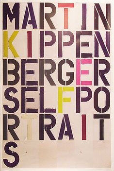 Martin Kippen Berger self portraits on Flickr - Photo Sharing!