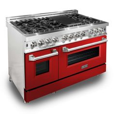 ZLINE KITCHEN & BATH 7 Burners ft Double Oven Convection Dual Fuel Range (Common: Actual: at Lowe's. Since 2006 ZLINE kitchen and bath has delivered the best quality to price ratio on the market. With directly imported hand-crafted Italian burners, smooth 48 Range, Oven Range, Freestanding Double Oven, Ranger, Dual Oven, Cast Iron Grill, Glass And Aluminium, Electric Oven, Adjustable Legs