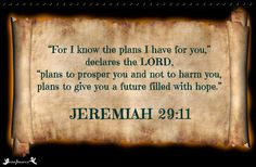 My hope relies on the promises of God!