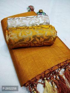 Chanderi Cotton Jhalar Sarees with Dual Jacquard Blouse from Stf Store Chanderi Silk Saree, Soft Silk Sarees, Cotton Saree, Cotton Silk, Cotton Dresses, Simple Sarees, Trendy Sarees, Fancy Sarees, Saree Tassels