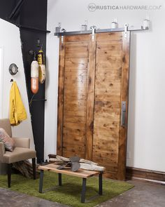 Your closets will love these!  http://rusticahardware.com/standard-bypass-barn-door-hardware-system/