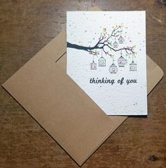 Seed embedded paper grows wildflowers or herbs Plantable Greeting Card You are my sunshine 100/% recycled seed paper