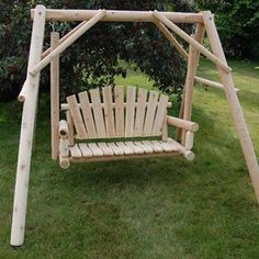 Lawn Swing, Porch Swing, Rustic Dining Room Sets, Large Truck, White Cedar, Quality Furniture, Lead Time, Furniture Making, Customer Service