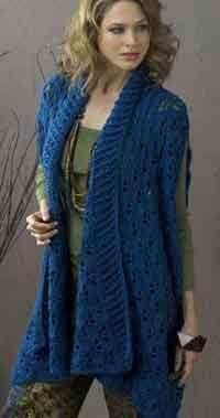 Sherbrook Elongated Summer Jacket (150 free plus size crochet patterns)