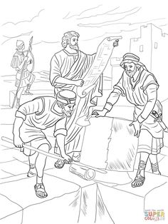 Nehemiah Rebuilding The Walls Of Jerusalem Coloring Page From Ezra And Category Select 24652 Printable Crafts Cartoons Nature Animals