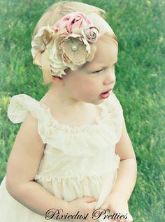 vintage inspired flowergirl. $17.99, via Etsy.