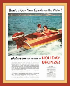 1956 Johnson Sea-Horse Outboard Motor print ad by catchingcanaries