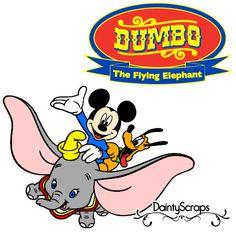 Disney Rides Dumbo SVG DaintyScraps.com