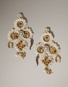 Dolce & Gabbana Good Luck Chandelier Earrings