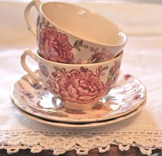 Johnson Brothers Rose Chintz - from England and I LOVE it!  Need to start collecting pieces