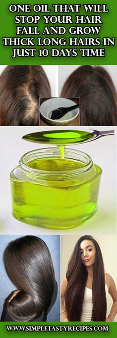 One Oil That Will Stop Your Hair Fall and Grow Thick Long Hairs in Just 10 Days Time #Oil #Hairs