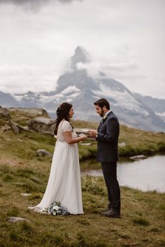 Read the story about the elopement of N&H in Zermatt. They expressed their love in the Swiss mountains with unforgettable wedding vows. Beautiful Words, Got Married, Getting Married, Wedding Vows, Wedding Dresses, Zermatt, Adventure, Couple Photos, Summer