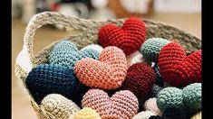 코바늘 하트 만들기) 발렌타인데이 & 화이트데이 하트 만들기 ❤️ How to crochet a heart ♥️ - YouTube