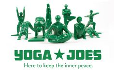 Yoga Joes, Classic Plastic Green Army Men Toys in Yoga Poses