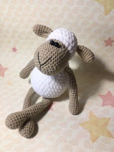This is an Amigurumi Sheep Toy Free Crochet Pattern. These sweet amigurumi sheep are created in the blink of an eye! The amigurumi pattern is super easy and fun to make. Crochet Gratis, Crochet Amigurumi Free Patterns, Crochet Bear, Crochet Doll Pattern, Knit Or Crochet, Crochet Animals, Crochet Dolls, Free Crochet, Sheep Crafts