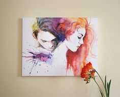 Water color painting  Titanic movie poster by sookimstudio on Etsy, $100.00