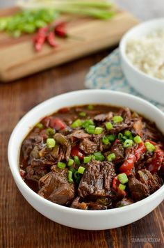 Cooked Spicy Asian Beef - skip ordering take out with this amazingly tasty set it and forget it slow cooker meal.Slow Cooked Spicy Asian Beef - skip ordering take out with this amazingly tasty set it and forget it slow cooker meal. Slow Cooker Beef, Slow Cooker Recipes, Beef Recipes, Cooking Recipes, Healthy Recipes, Asian Recipes, Recipies, Savoury Recipes, Healthy Dishes
