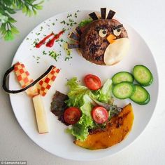 angry bird plate #kids #meals