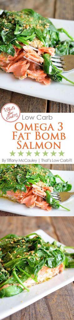 Low Carb Recipes   Omega 3 Fat Bomb Salmon Recipe   Salmon Recipes   Dinner Recipes