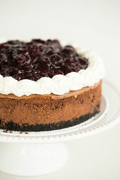 Black Forest Cheesecake by @Michelle Flynn (Brown Eyed Baker) :: www.browneyedbaker.com