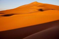 erg chegaga big sand dunes in morocco