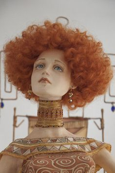 Beautiful Fantasy Art, Beautiful Dolls, Grow Up People, Sculpture Art, Sculptures, Redhead Art, Edwardian Hairstyles, Weird Toys, Toys In The Attic