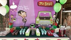 Mr Bean Birthday, 7th Birthday, Birthday Ideas, Mr. Bean, Kids Party Themes, Sugar, Sketches, Paper Bags, Decorations