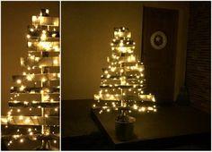 Öko karácsonyfa, lécekből - Masni / DIY christmas tree made of wood slats