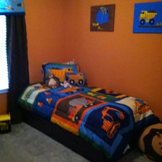 1000 images about toddler boy 39 s room on pinterest for Construction themed bedroom ideas