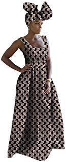 Traditional African Fabric Dresses for Women Girls Ankara Handmade Summer+Headwrap inch Pretty Dresses For Women, African Dresses For Women, Summer Dresses For Women, Summer Dress Patterns, Casual Summer Dresses, African Fabric, Ankara, Womens Fashion, Traditional