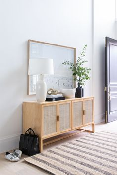Christine Andrew from Hello Fashion shares her two day transformation of her entry way with Studio McGee and full details on all the home decor products. Dining Table Makeover, Oak Dining Table, Studio Mcgee, Studio Studio, Kids Studio, Small Studio, Entryway Decor, Foyer, Entryway Dresser