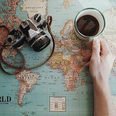 Coffee and an adventure on the horizon? #coffee #adventure #planning @joestpierre #regram