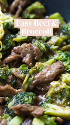 Easy Beef And Broccoli, Broccoli Recipes, Beef Broccoli Stir Fry, Easy Asian Recipes, Healthy Recipes, Easy Beef Recipes, Thai Recipes, Beef Recipes For Dinner, Cooking Recipes