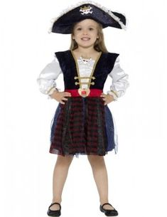 Deluxe Glitter Pirate Girl Costume
