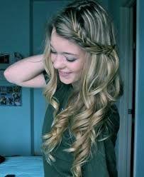 Cute side plait with hair down